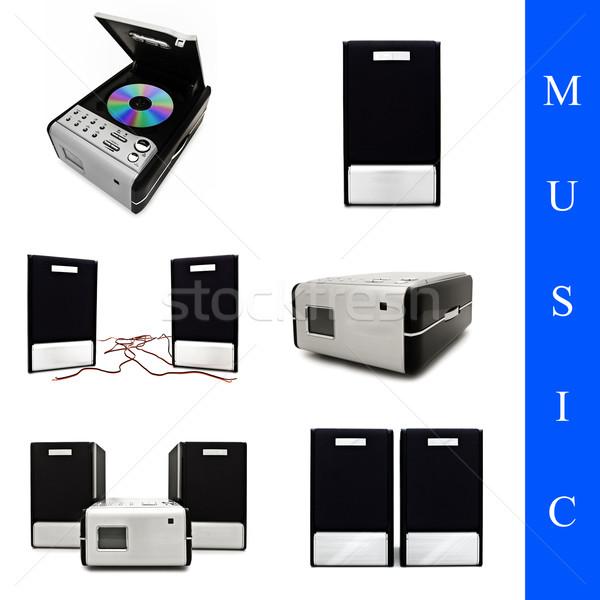 Zene szett különböző képek fehér technológia Stock fotó © SRNR