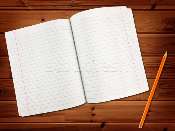 練習帳 鉛筆 木製 学校 教育 帳 ストックフォト © SRNR