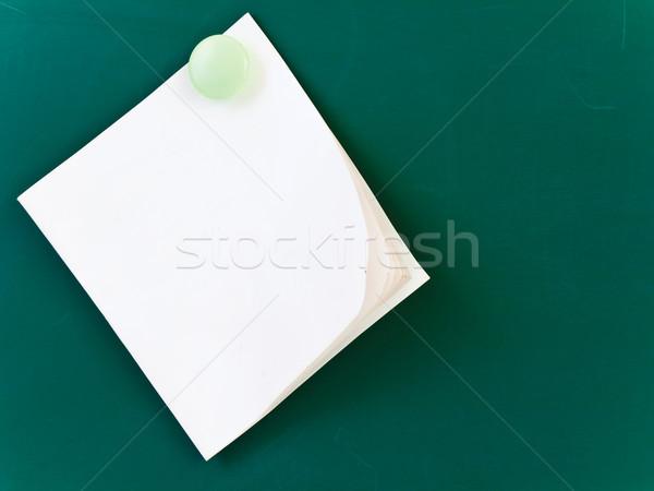 Notatka biały zielone pokładzie papieru ściany Zdjęcia stock © SRNR