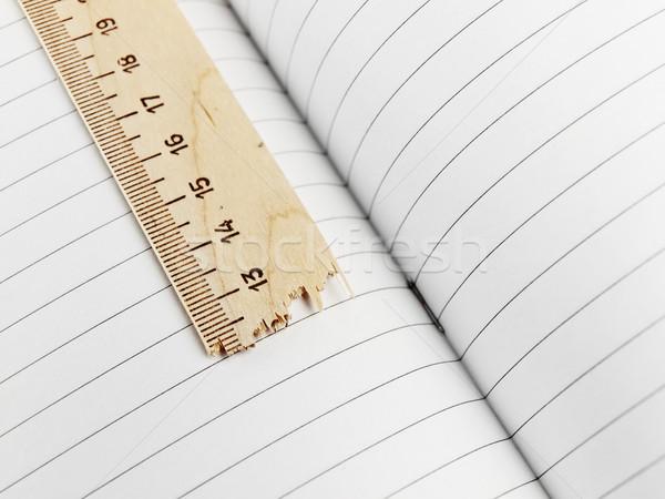 練習帳 定規 壊れた 紙 学校 教育 ストックフォト © SRNR