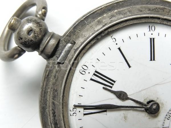 пять минута двенадцать Vintage серебро часы Сток-фото © SRNR