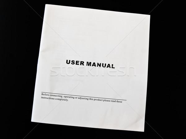 User manual guide brochure against the black background  Stock photo © SRNR