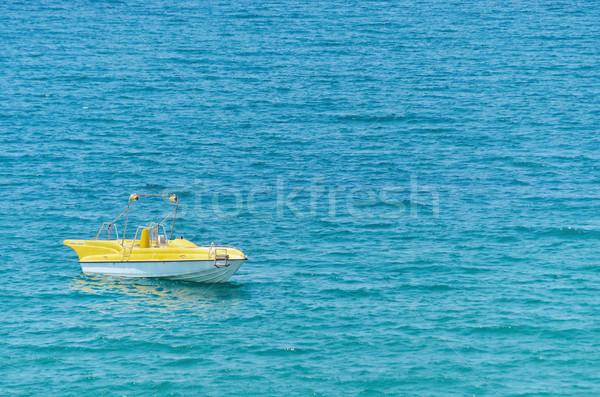 Motorcsónak üres fekete tenger víz nyár Stock fotó © SRNR