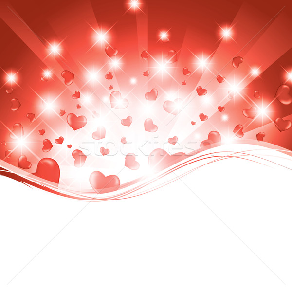Stock photo: valentine template