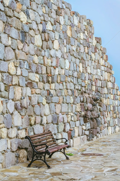 Bench near the Wall Stock photo © SRNR