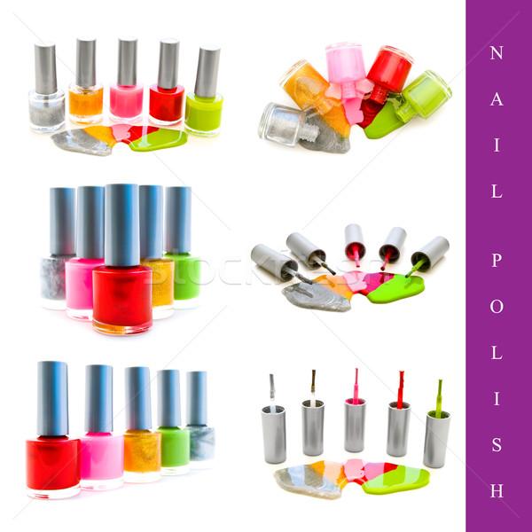 nail polish set Stock photo © SRNR