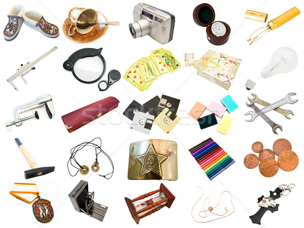 set from different everyday items Stock photo © SRNR