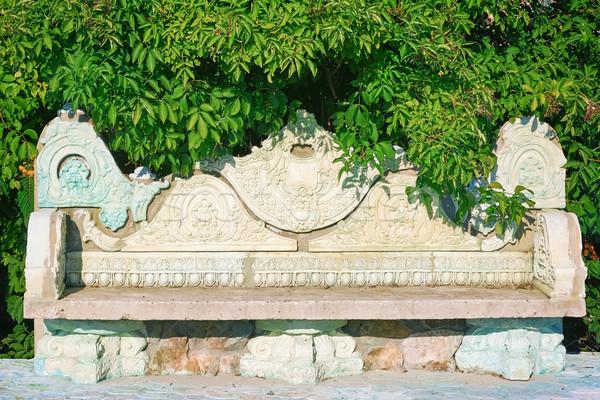 Old Stone Bench Stock photo © SRNR