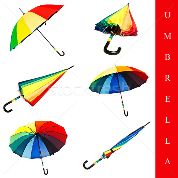 umbrella set Stock photo © SRNR