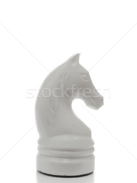 Beyaz şövalye satranç güç başarı oyun Stok fotoğraf © SRNR