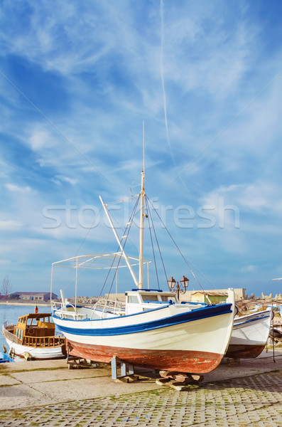 Boat on the Shore Stock photo © SRNR