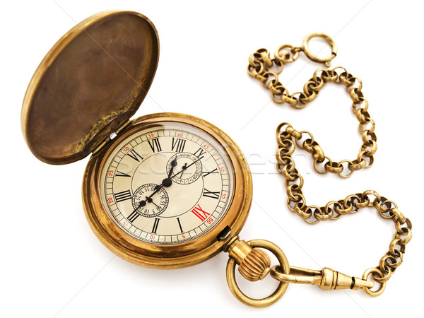 vintage pocket clock Stock photo © SRNR