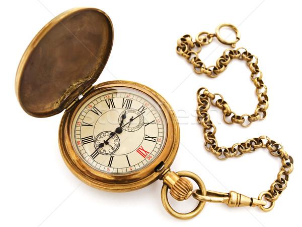 Vintage poche horloge photo vieux Photo stock © SRNR