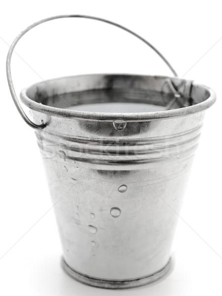 Balde água metal branco aço líquido Foto stock © SRNR