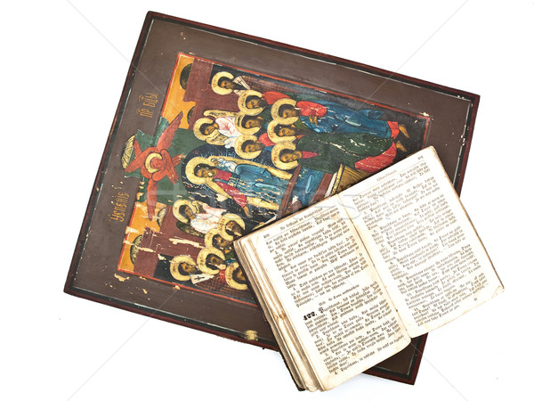 Icon and Bible Stock photo © SRNR