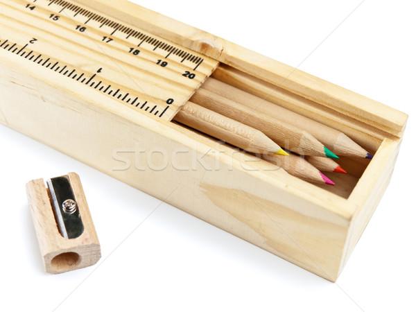 pencil case with colour pencils Stock photo © SRNR