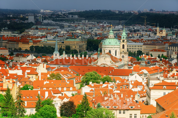 Panoramic View Of Prague Stock photo © SRNR