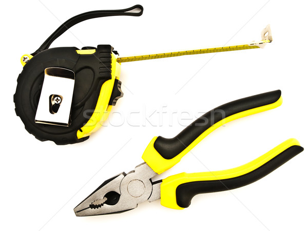 Tapeline And Pliers Stock photo © SRNR
