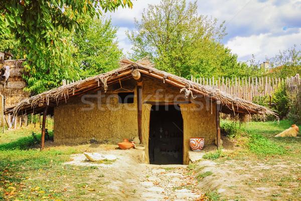 Weinig hut klein home retro architectuur Stockfoto © SRNR