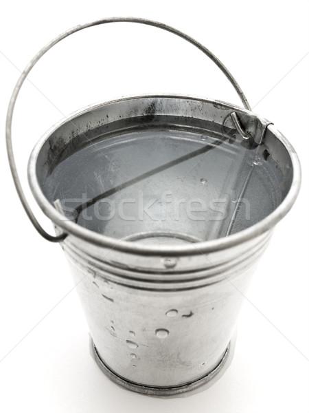 Seau eau métal blanche acier liquide Photo stock © SRNR
