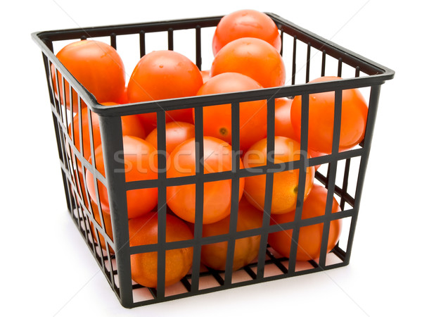 Pequeno tomates cesta vermelho branco caixa Foto stock © SRNR