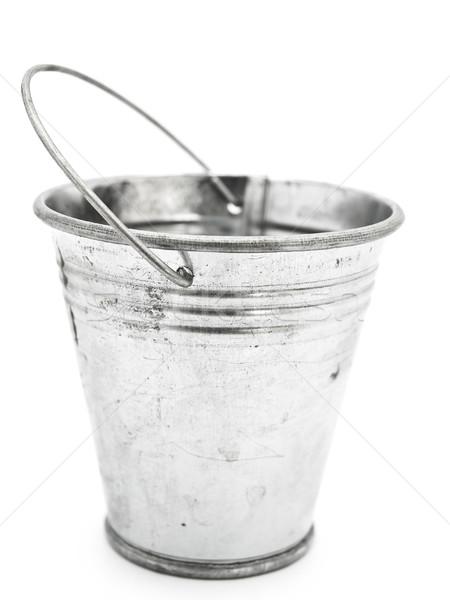 Vödör üres alumínium fehér retro acél Stock fotó © SRNR