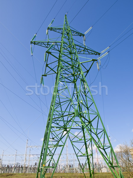 Single electricity tower Stock photo © SRNR