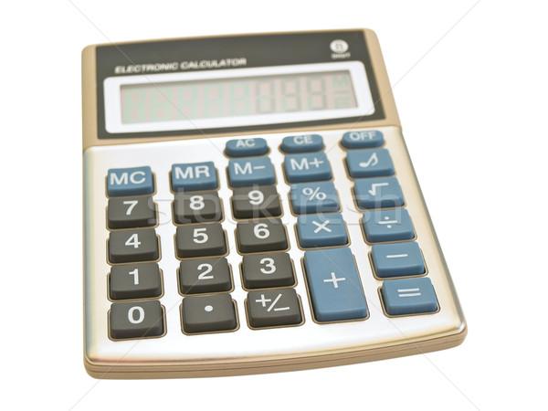 Single calculator against the white background Stock photo © SRNR