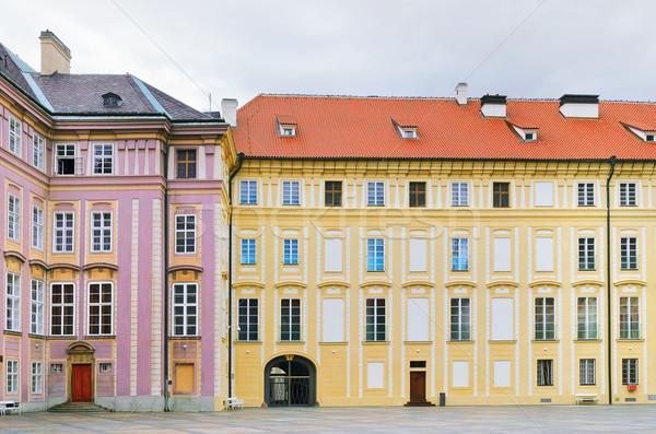 Courtyard of Prague Castle Stock photo © SRNR