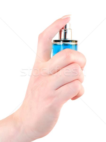Perfumaria mulher mão feminino pessoa cosméticos Foto stock © SRNR