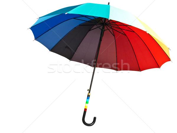 Tarka esernyő fehér eső narancs zöld Stock fotó © SRNR