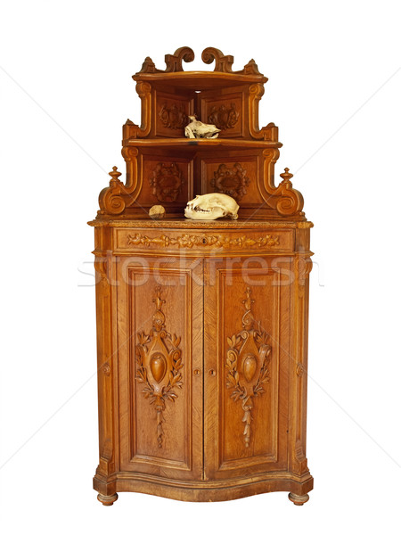 шкаф старые животные белый древесины Сток-фото © SRNR