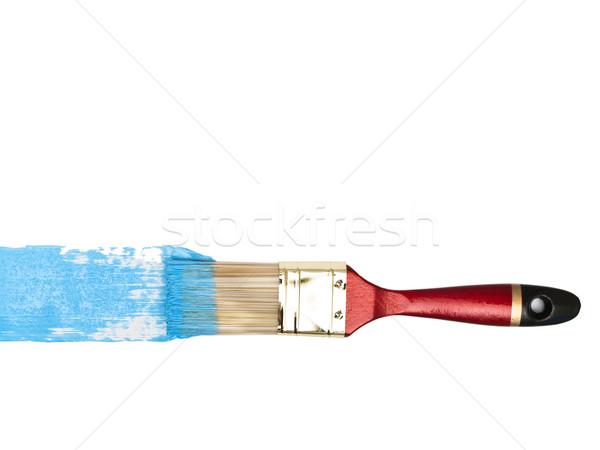 Setola blu colore bianco strumento artista Foto d'archivio © SRNR