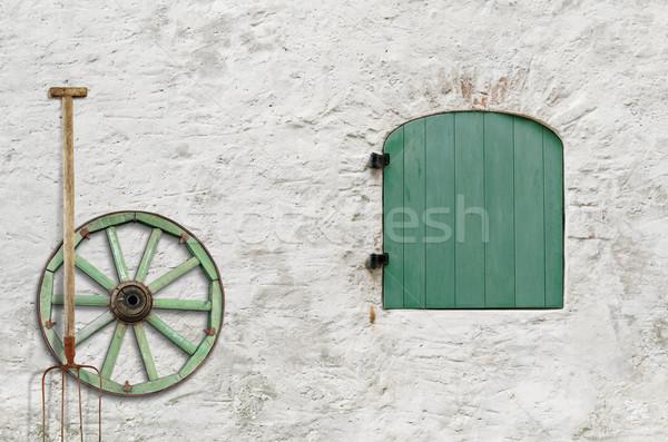 Farmer's House Wall Stock photo © SRNR