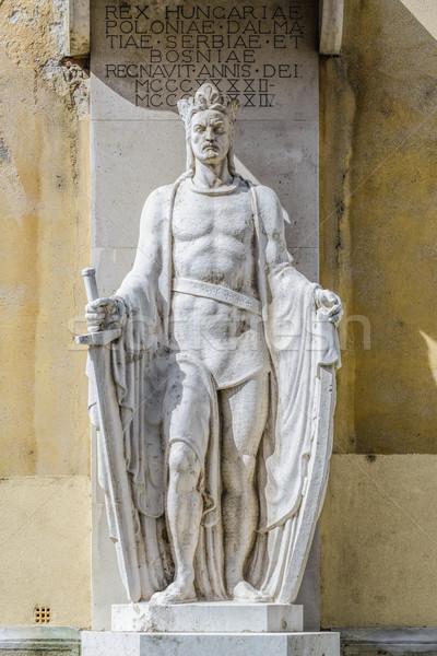 Estátua cidade arquitetura europa escultura antigo Foto stock © SRNR