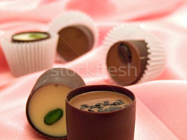 Dolci seta diverso cioccolato rosa candy Foto d'archivio © SRNR