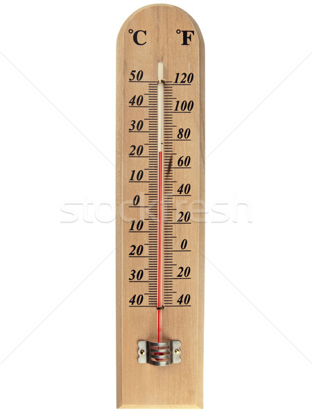 Termómetro celsius blanco rojo objeto Foto stock © SRNR