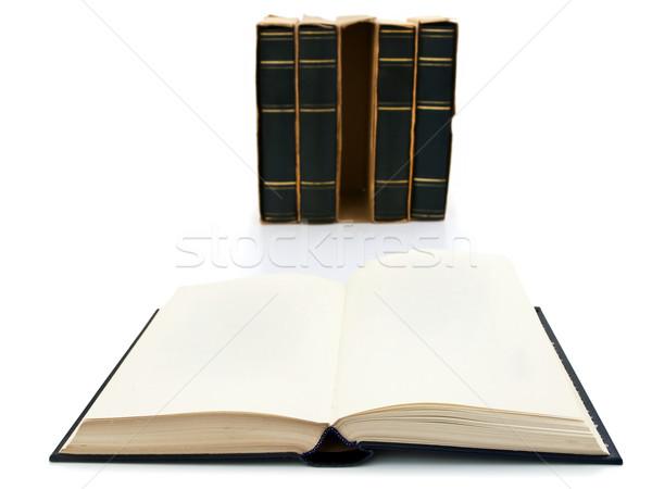 Könyvek fotó nyitott könyv fehér könyv olvas Stock fotó © SRNR