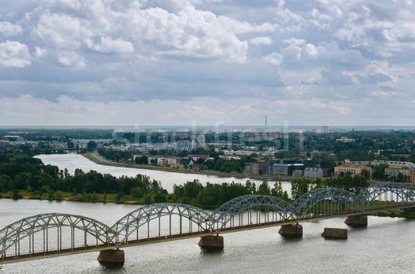 Riga Látvia céu viajar edifícios urbano Foto stock © SRNR