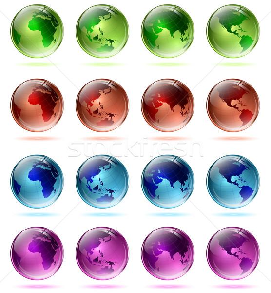 Multicolored globes Stock photo © SRNR