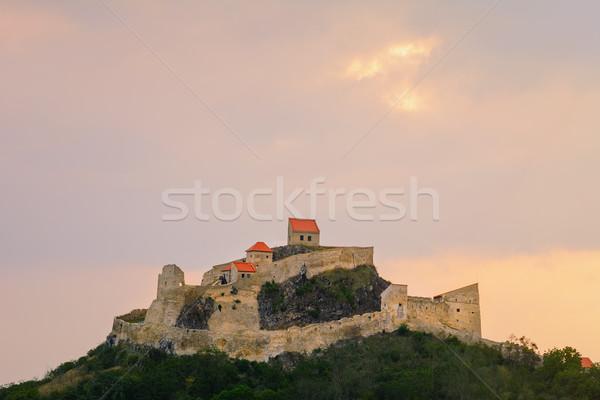 中世 牙城 丘 ルーマニア 壁 ストックフォト © SRNR