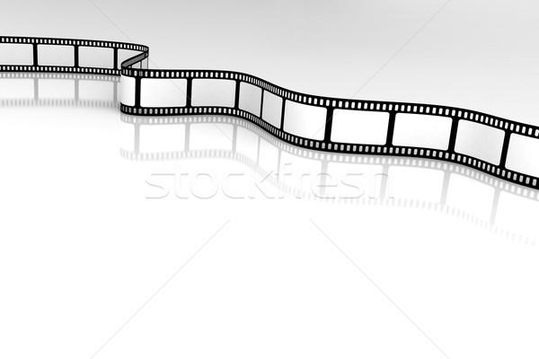 Filme projeto quadro preto retro branco Foto stock © SSilver