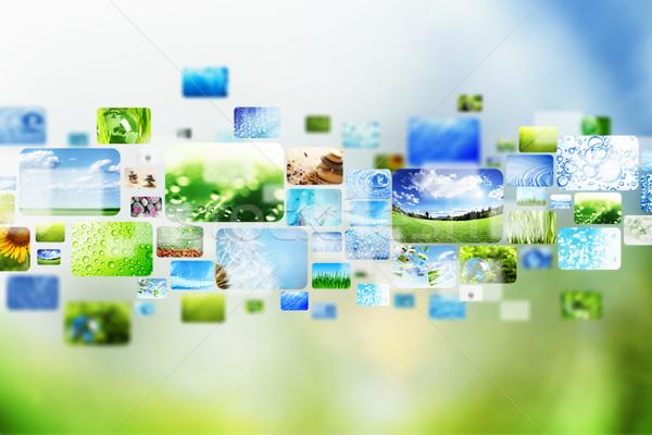 Toplama Internet dizayn teknoloji arka plan Stok fotoğraf © SSilver