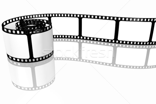 Film strip film design spazio nero retro Foto d'archivio © SSilver