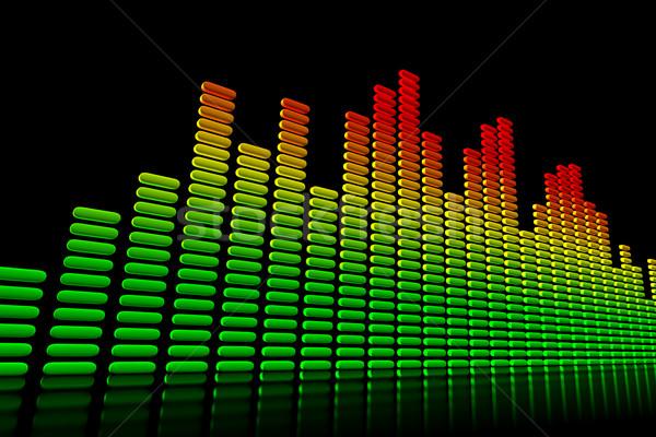 Ecualizador resumen diseno fondo radio verde Foto stock © SSilver