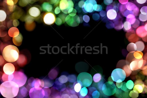 Soyut ışıklar parti çerçeve uzay gece Stok fotoğraf © SSilver