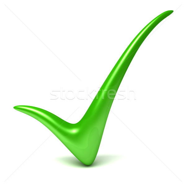 Verde verificar assinar sucesso objeto Foto stock © SSilver