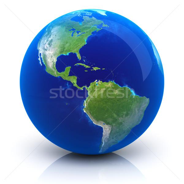 Pianeta terra terra mappa mondo Ocean verde Foto d'archivio © SSilver