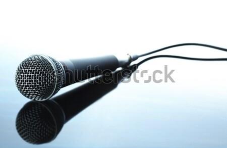 Microfone retro estúdio registro Áudio cantar Foto stock © SSilver