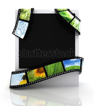 Fotoğraf film dizayn video siyah bağbozumu Stok fotoğraf © SSilver
